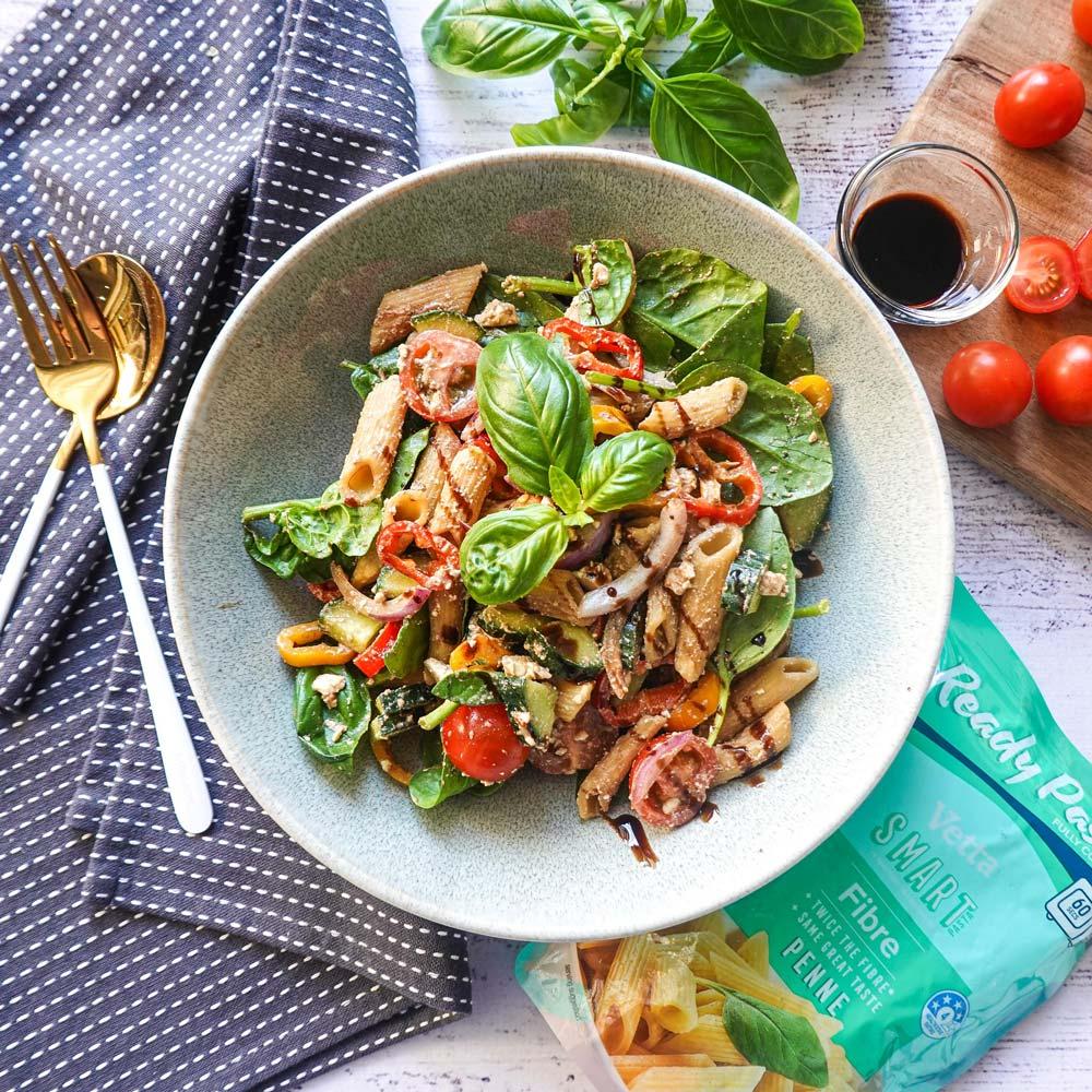 Balsamic Fetta Salad with Vetta Ready Pasta Fibre Penne