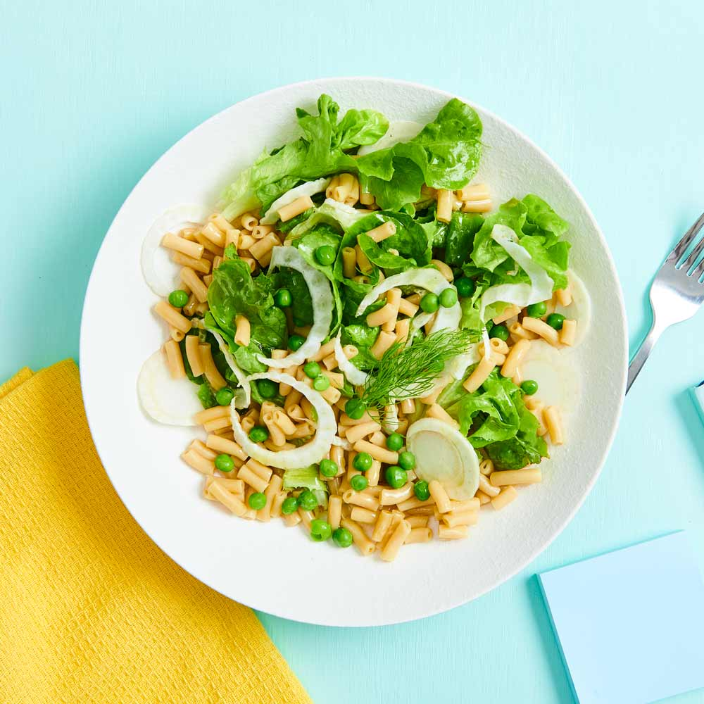 Fennel and Pea Salad with Vetta Ready Pasta Classic Macaroni