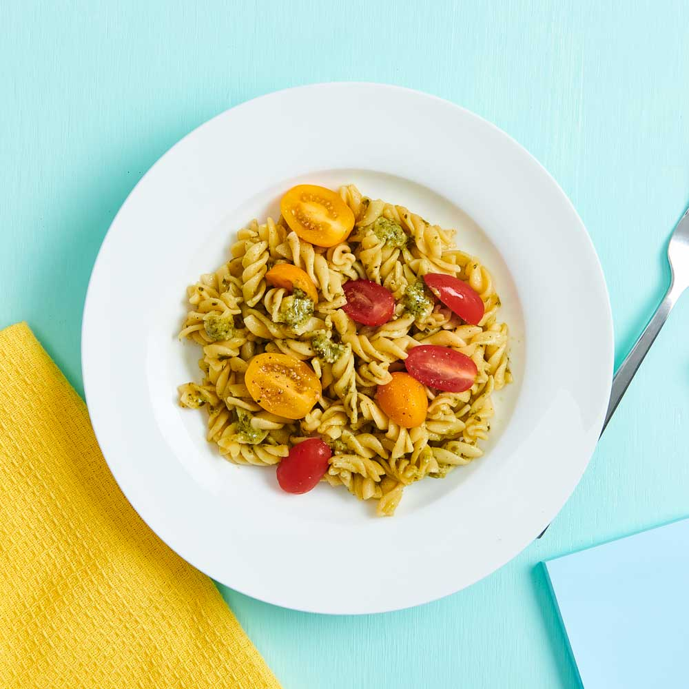 Pesto and Cherry Tomato with Vetta Ready Pasta Classic Spirals